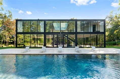 glass box house own a glass box htons home designed by one world trade