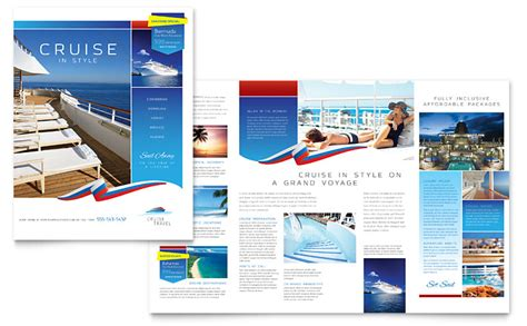 Cruise Travel Brochure Template Word Publisher Travel Flyer Template Free