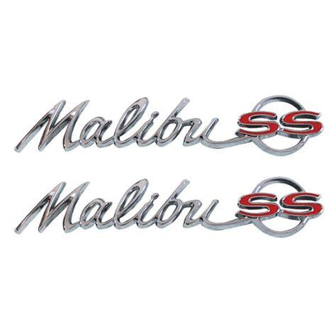 chevy malibu emblem 1964 chevy quot malibu ss quot rear quarter emblem chevy car parts