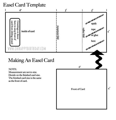 Easel Card Template by Attractive Birthday Cards With A Festive Feel