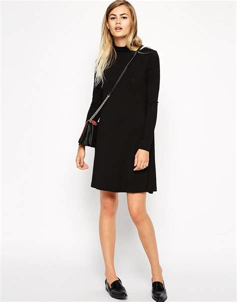 asos petite swing dress asos petite asos petite turtleneck swing dress at asos
