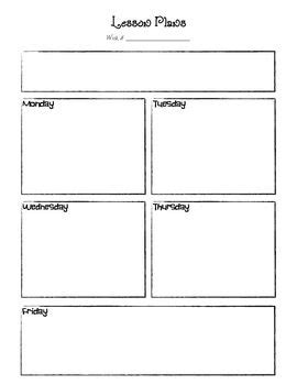 one day lesson plan template this is a basic lesson plan template for preschool or one