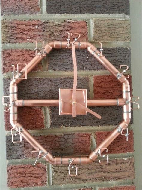 copper clock i made out of copper pipe and copper