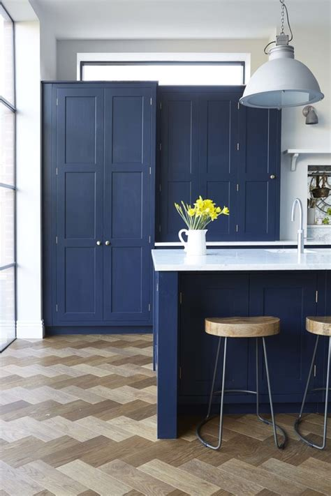 navy kitchen cabinets vintage navy kitchen design with brass hardware digsdigs