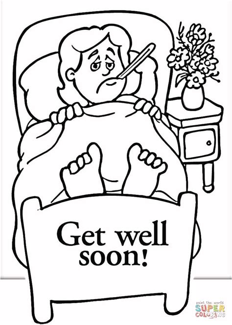 Get Well Soon Printable Coloring Pages Bestofcoloring Com Get Well Coloring Pages Print