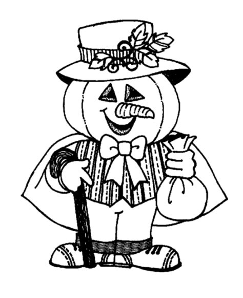 halloween costume coloring page pumpkin head costume
