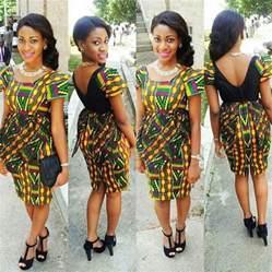 Modern peplum dress design african style style african print