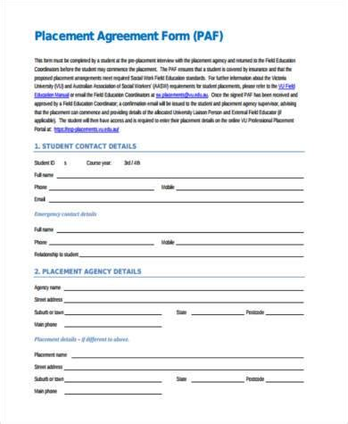 placement agreement template placement agreement template 28 images promotional or