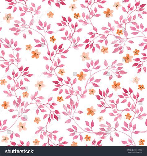 cute handpainted pattern seamless vintage pattern hand painted pink stock