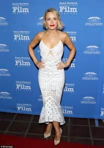Mcadams Models Beyonce And Kirstens Oscar Dresses In by Mcadams Is Honored At Santa Barbara International