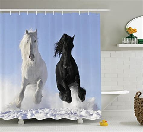 horse shower curtain sets horse shower curtains kritters in the mailbox horse