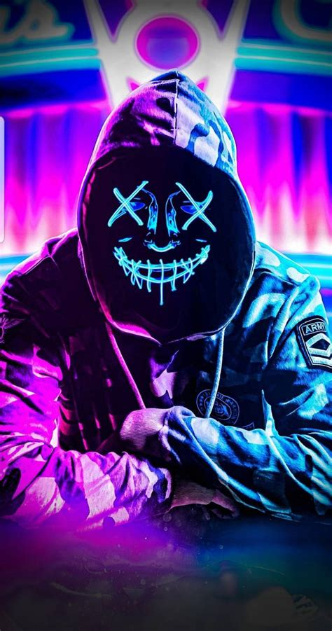 neon mask wallpaper  rj    zedge