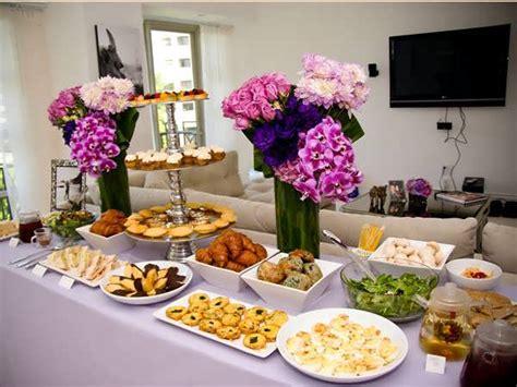 bridal shower dinner table bridal shower buffet table decorations 99 wedding ideas