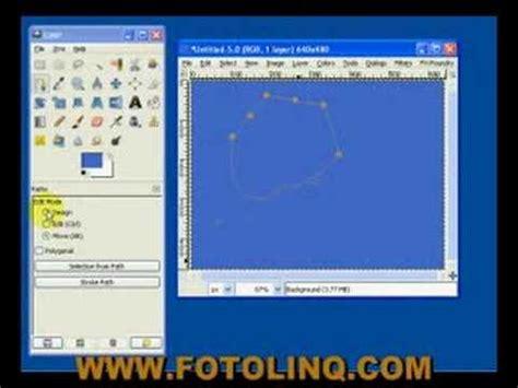 gimp tutorial path tool gimp tutorial bezier path tool part one youtube