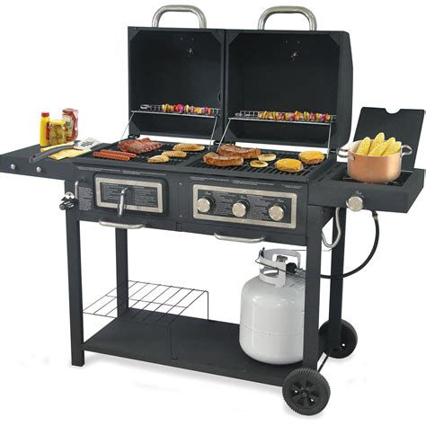 backyard grill dual gas charcoal grill walmart home