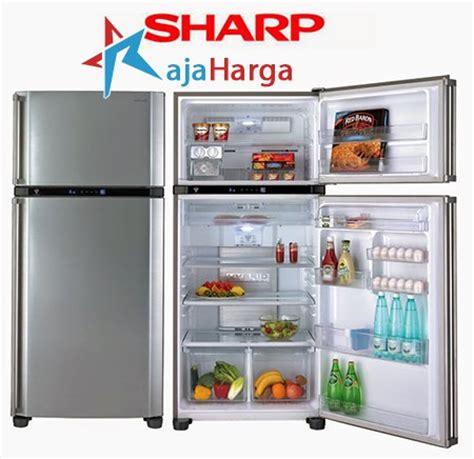 Lemari Es Dua Pintu Sharp daftar harga kulkas lemari es sharp 2 1 pintu terbaru 2018