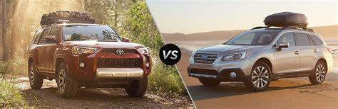 Toyota Outback 2017 Toyota 4runner Vs 2017 Subaru Outback