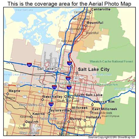 salt lake city map aerial photography map of salt lake city ut utah