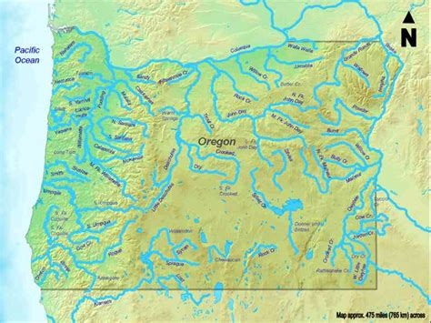 map of oregon lakes and rivers map of rivers in oregon map travel