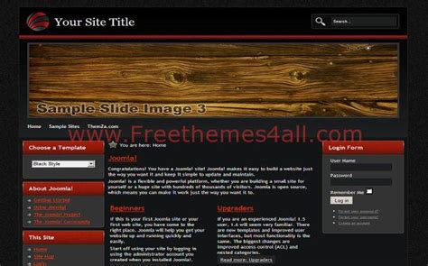 free woodworking templates black wood free joomla theme