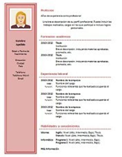 Plantillas De Curriculum Vitae Para Llenar Gratis 69 Modelos De Curriculum Vitae Exitosos Para Descargar En Word