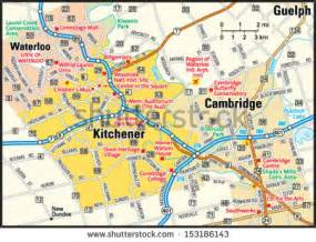 map of kitchener ontario canada ontario road map stock photos images pictures