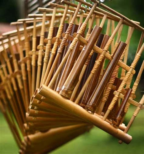 angklung traditional musical instrument