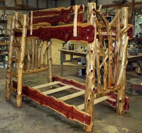 save on cedar rustic log furniture and rustic decor cedar log bunk bed by robert r norman and woodzy org