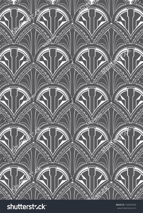 pattern repeat art art deco style repeat pattern wallpaper stock vector