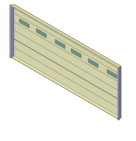 3d Cad Double Garage Door Cadblocksfree Cad Blocks Free Garage Door Cad Block