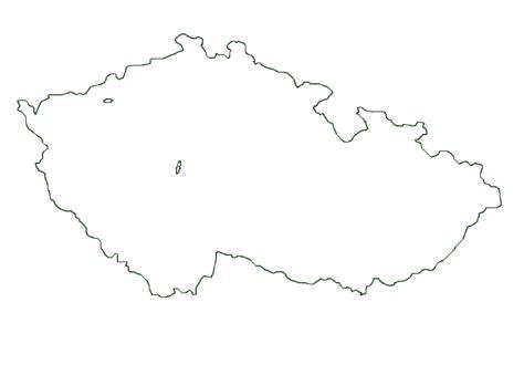 czech republic map terrain area  outline maps