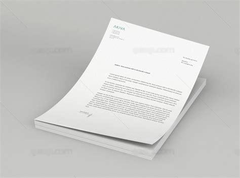 letterhead presentation mock up psd template all design