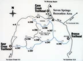 cave creek arizona map cave creek trail 4 hiking arizona hikearizona