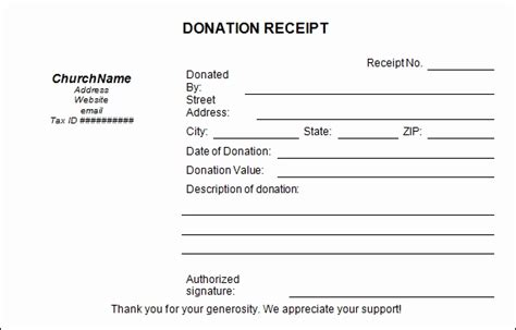non profit contribution receipt template donation receipt