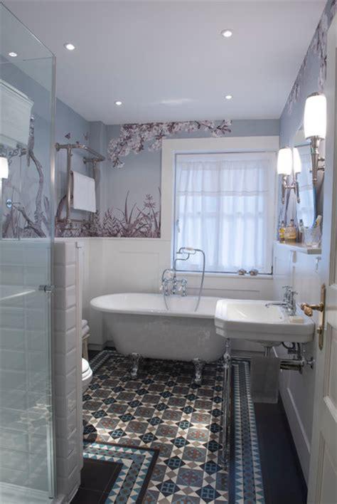 badezimmer zementfliesen badumbau in einem waldgut viktorianisch badezimmer