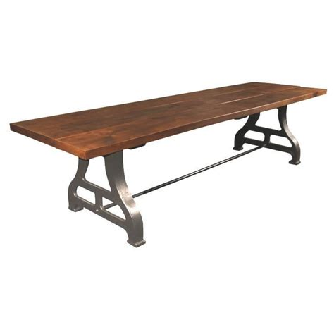 10 foot table vintage industrial wood and cast iron dining conference