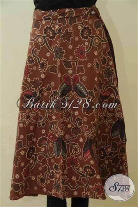 Rok Lilit Songket Keren rok lilit bahan batik kombinasi tulis warna coklat busana batik wanita untuk bawahan desain