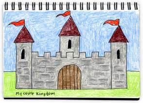 castle drawing template textured castle drawing projects for