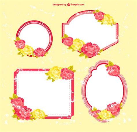cornici floreali libero disegno cornici floreali scaricare vettori gratis