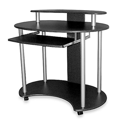 computer desk with casters curved computer desk with casters black bed bath beyond