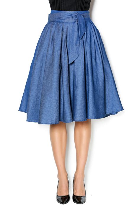 gracia flowy denim skirt from by opulence nail bar