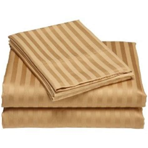 sheets that don t wrinkle amazon com wrinkle free damask stripes gold california