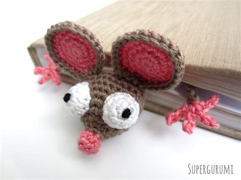 pattern crochet mouse amigurumi crochet mouse bookmark quot book mouse quot supergurumi
