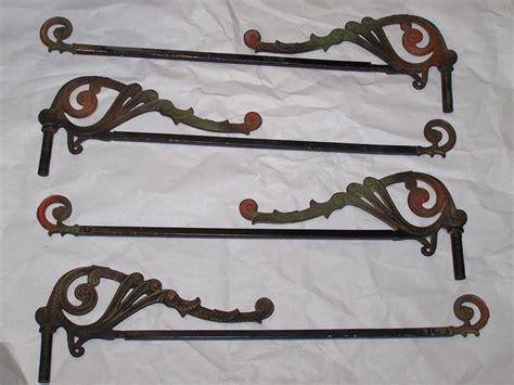 antique swing arm curtain rods antique vintage victorian swing arm curtain rods lot of 4