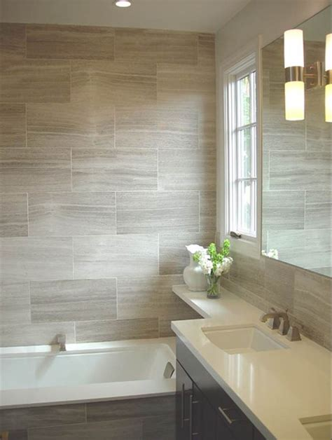 bathroom tiling wood look tile for shower surround in upstairs hall bath
