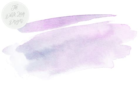 purple amp blue watercolor brush stroke clipart by the dutch