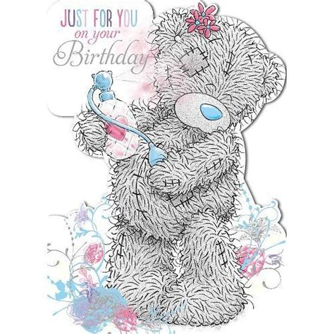From Me To You Gift Card - tatty teddy with perfume birthday card me to you happy birthday greeting cards