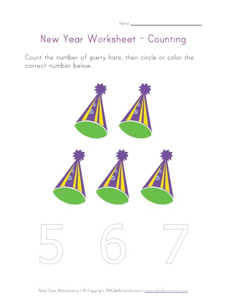 new year activities year 5 new year worksheet counting to five