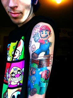 apothecary tattoo amazing on mario brothers and