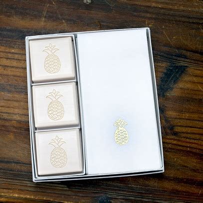 farm to table soap pineapple soap guest towels gift set